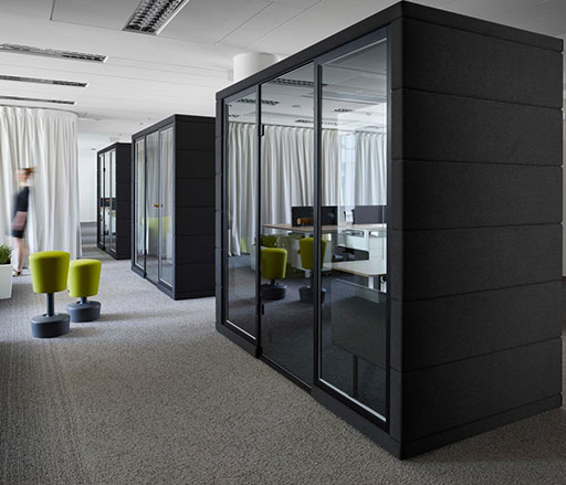 acoustic office meeting pods